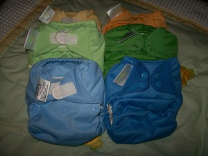My Stash!  A Rainbow of Diapers!