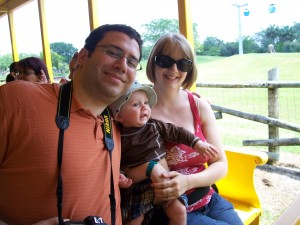 May 30.  Here we are riding the train through the safari area.