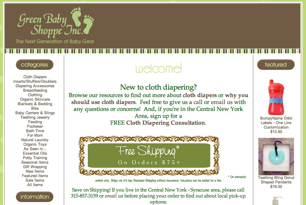 How Did I Not Know?  Green Baby Shoppe