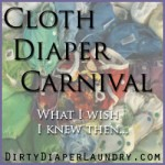 Cloth Diaper Carnival: What you wish you knew then that you know now.