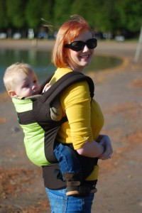 Wordless Wednesday: Babywearing in the Fall