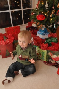 Wordless Wednesday: Fletcher is ready for Presents