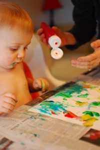Painting Mommy a Picture!