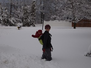 Wordless Wednesday: Babywearing and Snow!