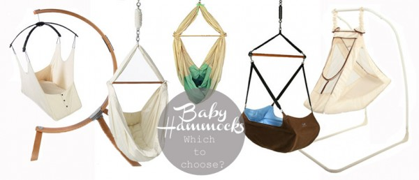 Baby hammock options for a natural, womb-like sleep environment.