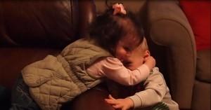 Emerson hugging Fletcher