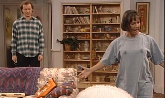 Image result for roseanne - jackie living room