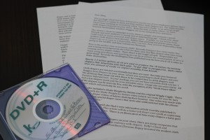 Letter to Ellen and DVD of videos