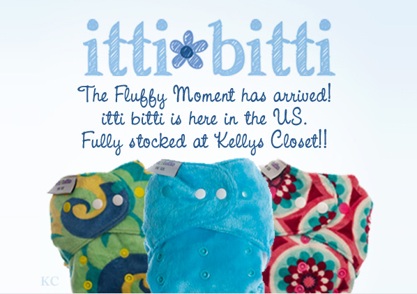 itti bitti Cloth Diapers now at Kelly's Closet!