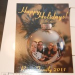 Create a Unique Holiday Card: Family Portrait in Ornament Reflection that Hangs on the Tree!