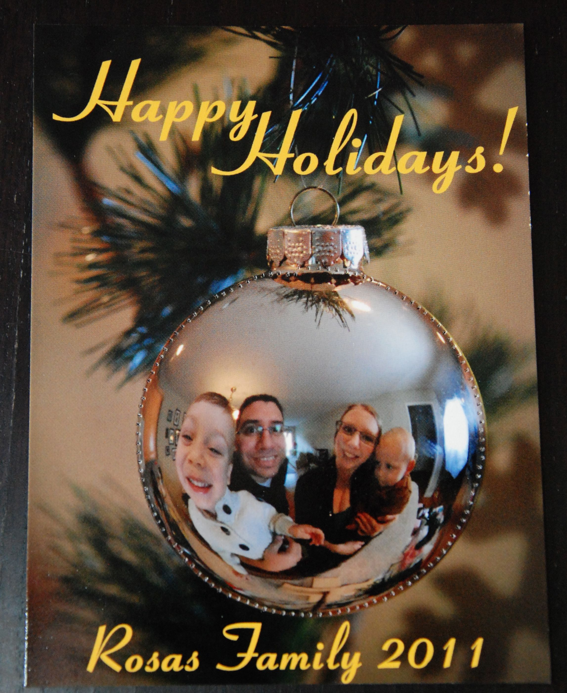 Create A Unique Holiday Card: Family Portrait In Ornament