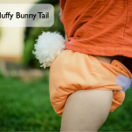 Tutorial: Make a Furry Bunny Tail for your Cloth Diapers!  Easter Photo Prop