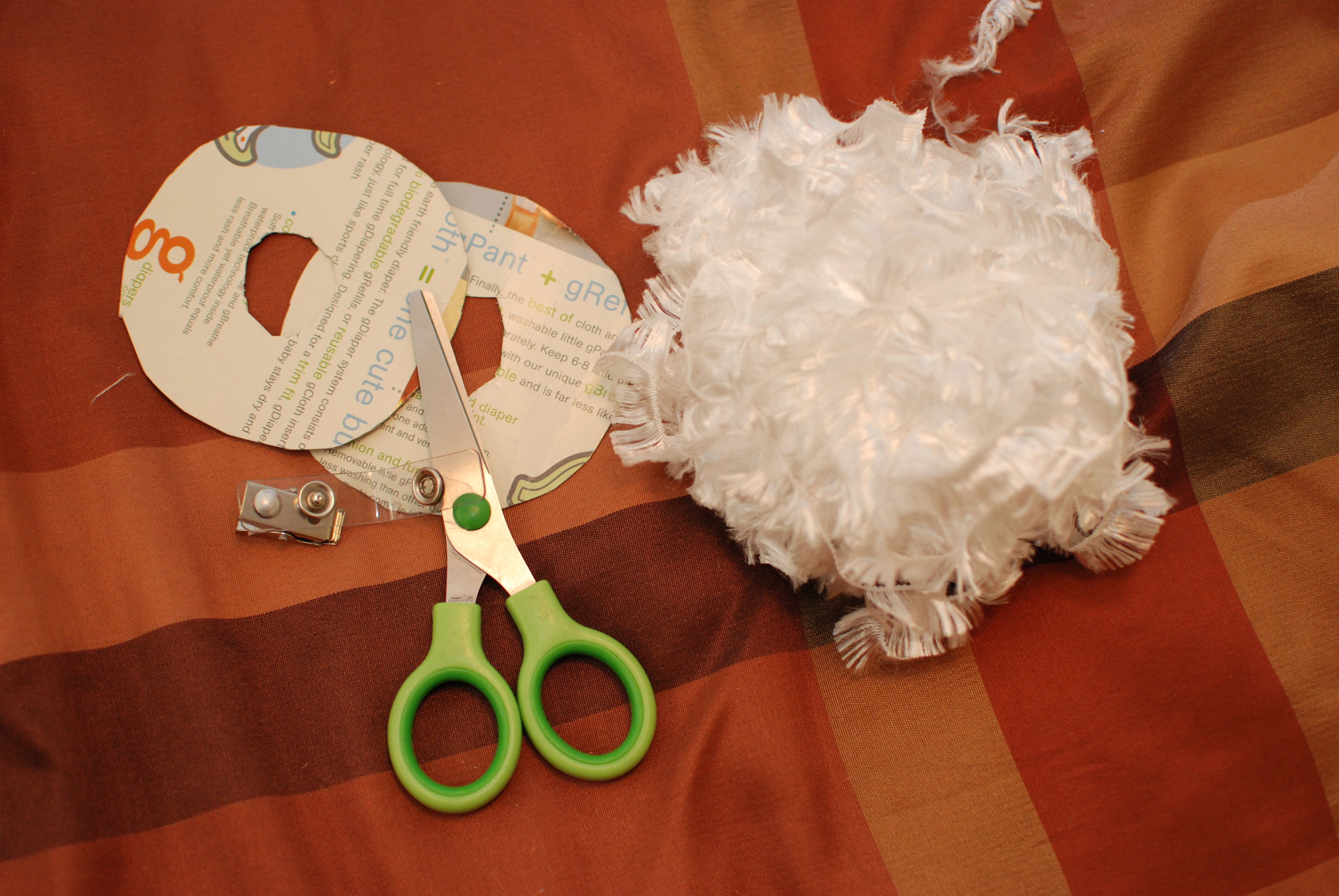 tutorial make a furry bunny tail for your cloth diapers easter