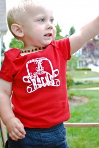 Red Cloth Diaper Shirt