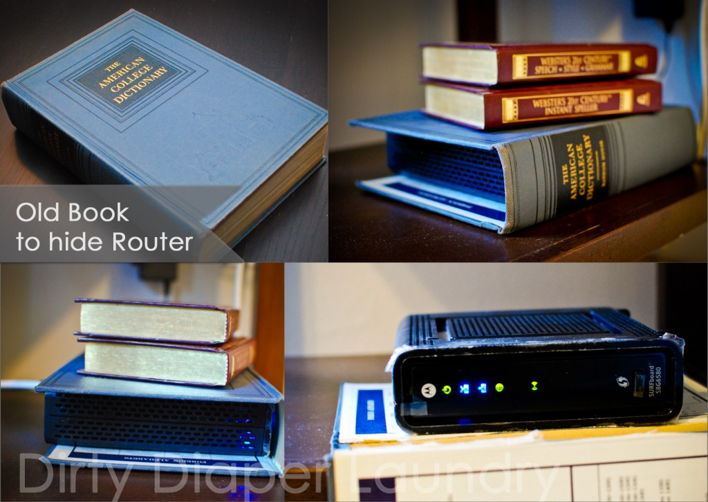 cover router with a book