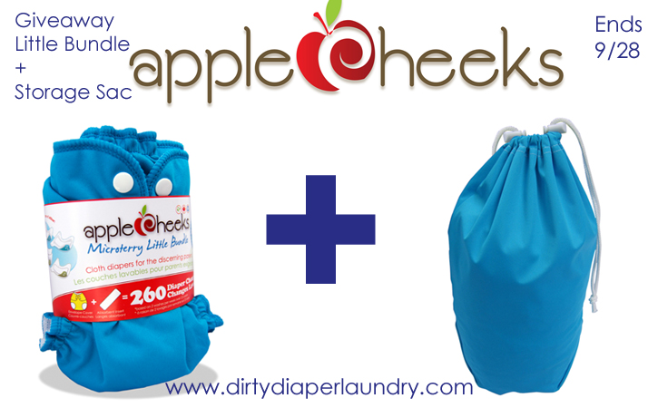 Applecheeks Little Bundle and Storage Sac Giveaway- DirtyDiaperLaundry.com