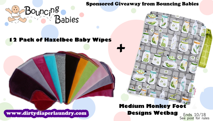 Hazelbee Baby Wipes and Monkey Foot Deisgns Giveaway