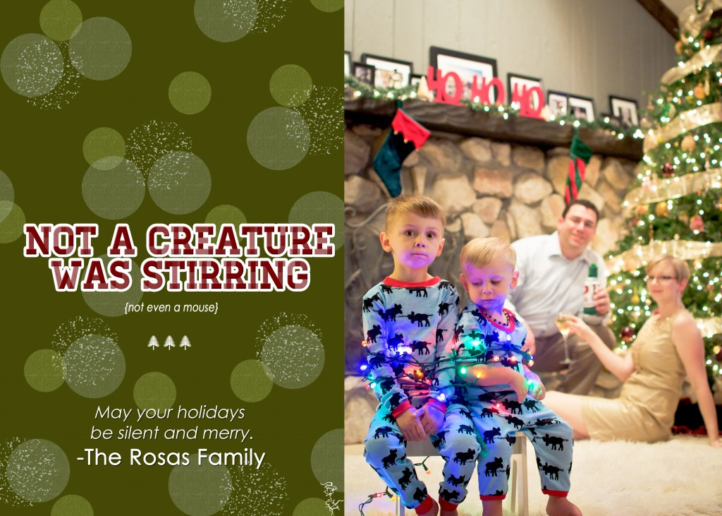 "Christmas Card ""Not a Creature Was Stirring"""