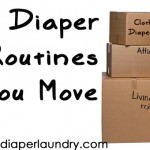 What happens to your cloth diaper wash routine when you move?