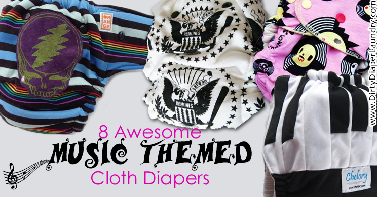 8 Awesome Music Themed Cloth Diapers