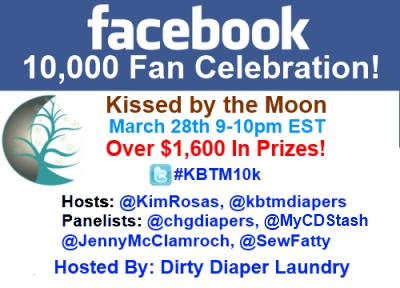 Join me for the Kissed by the Moon 10,000k Fan Twitter Party Celebration on March 28