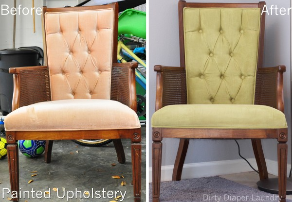 My Thrift Store Find Painted Chair Upholstery Before