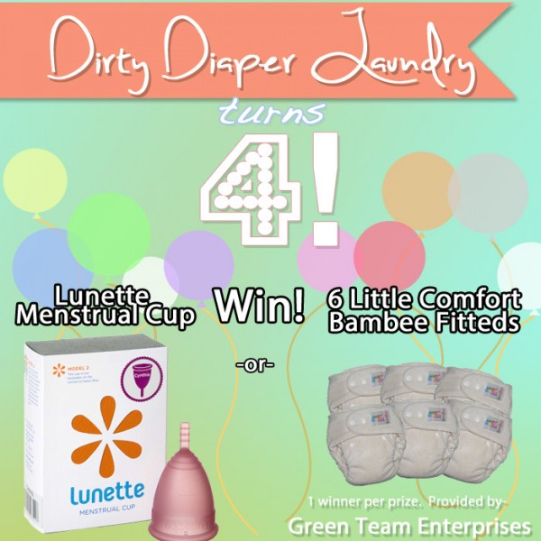 4 Years of DDL- 6 Little Comfort OS Bambee Fitteds and Lunette Cup Giveaway from Green Team Enterprises