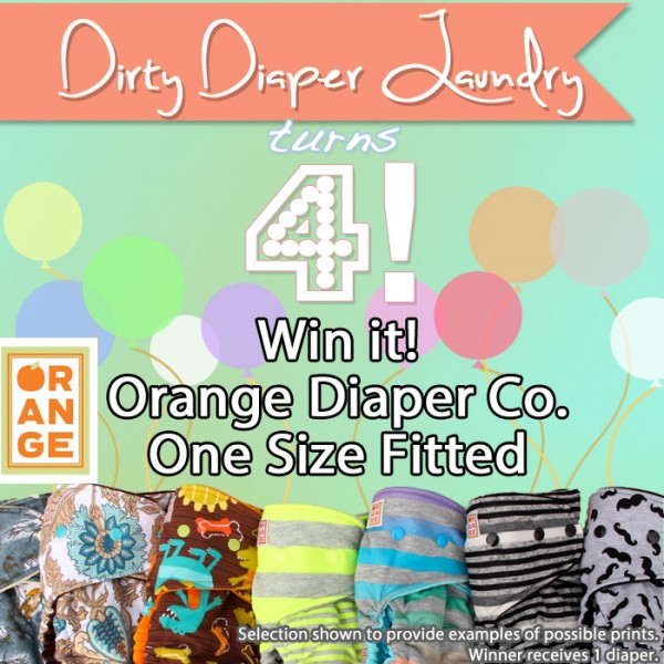 4 Years of DDL- Orange Diaper Co. One Size Fitted Giveaway.   {Ends 4/20}