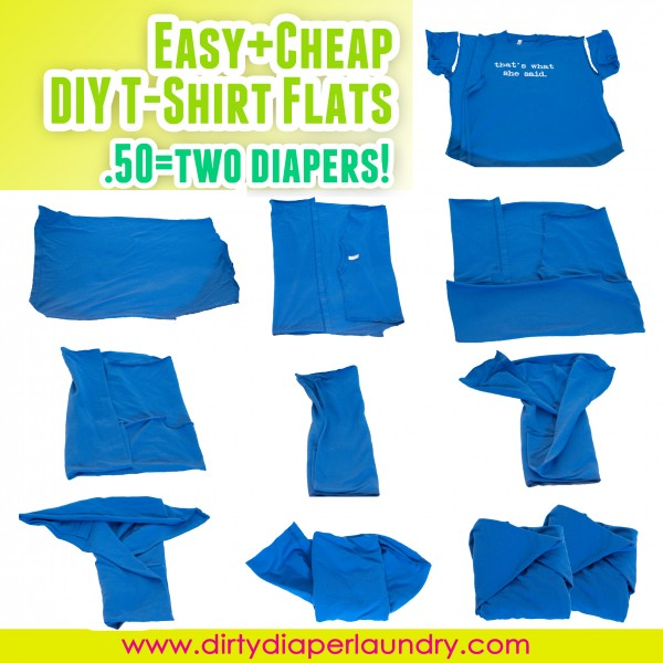 DIY Cheap and Easy t-shirt flats