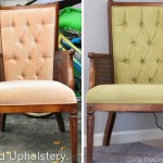 My Thrift Store Find- Painted Chair Upholstery Before/After