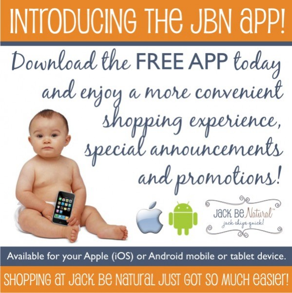 Announcing the Jack Be Natural App!  Plus a BobaAir Giveaway Sponsored by JBN!  Ends 7/23