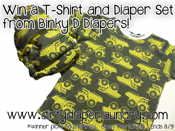 Binky D Diapers Shirt and Diaper Set Giveaway! {8/9}