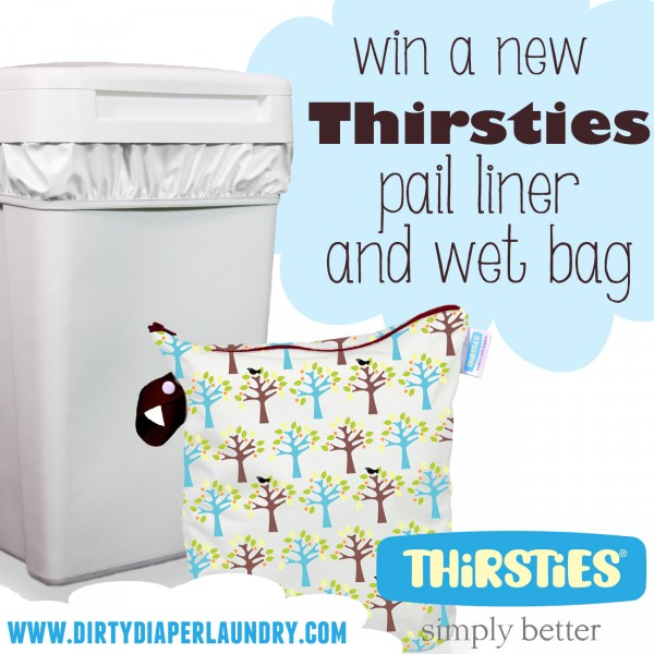 Introducing *NEW* Thirsties Wet Bags and Pail Liners {Giveaway}