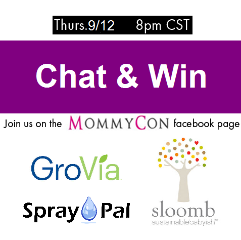 MommyCon Cloth Diaper Chat- Thursday 9/12 at 9 EST