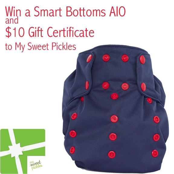Win a Smart Bottoms AIO and $10 GC to My Sweet Pickles {10/15}