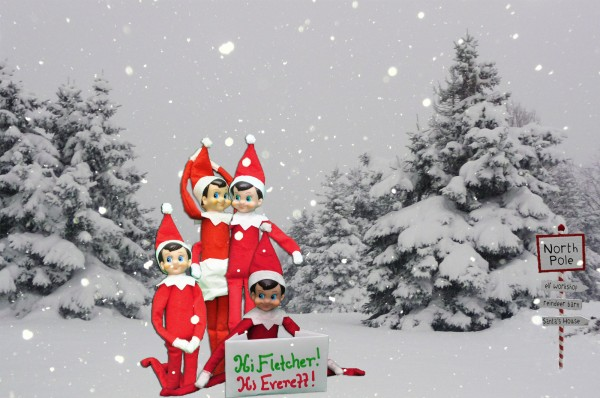 Elf on the shelf idea photo with friends from the north - Christmas elf on the shelf wallpaper ...