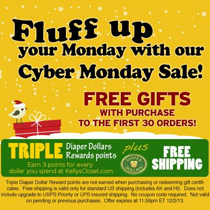 Cyber Monday Deals on Cloth Diapers (and more)