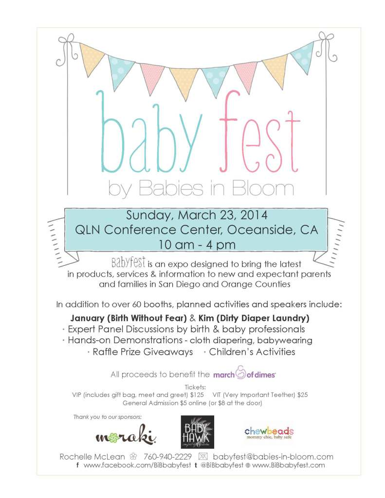 San Diego! March 23, BabyFest. See you there!