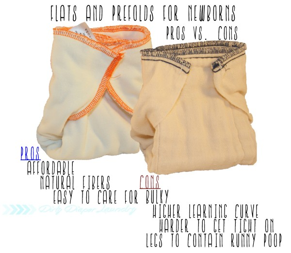 Flats and prefolds for newborns pros/cons