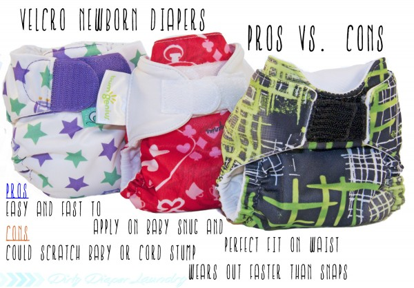 Velcro diapers on newborns pros/cons