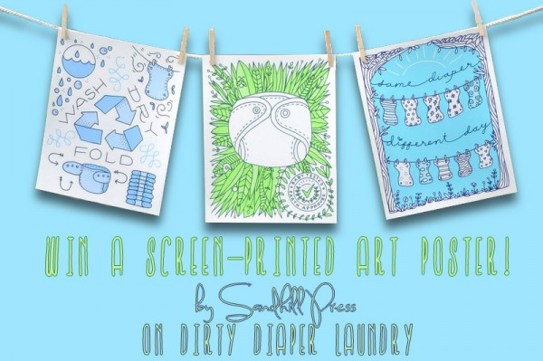 Win a cloth diaper art poster from Sandhill Press