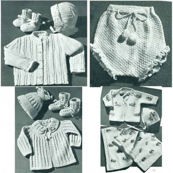 vintage-baby-knitting-crochet-patterns-coats-clarks-no-130