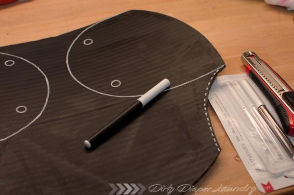 DIY Chalkboard diaper
