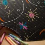 Decorate a chalk diaper