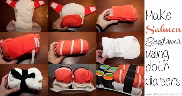 Make cloth diaper sashimi
