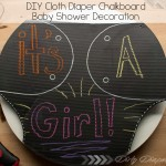 DIY Cloth Diaper Chalkboard Sign {Fluffin' Awesome Decor}
