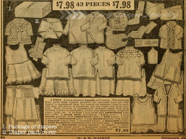 1915 baby layette catalogue