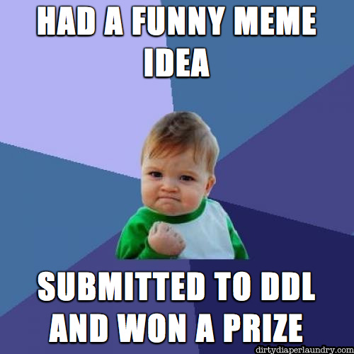 "Announcing the ""Make a Cloth Diaper Meme"" Contest!  Be Funny, Win Prizes!"