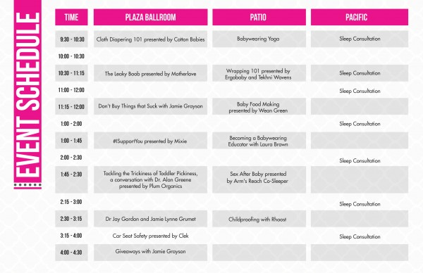 MommyCon Schedule Newport Beach