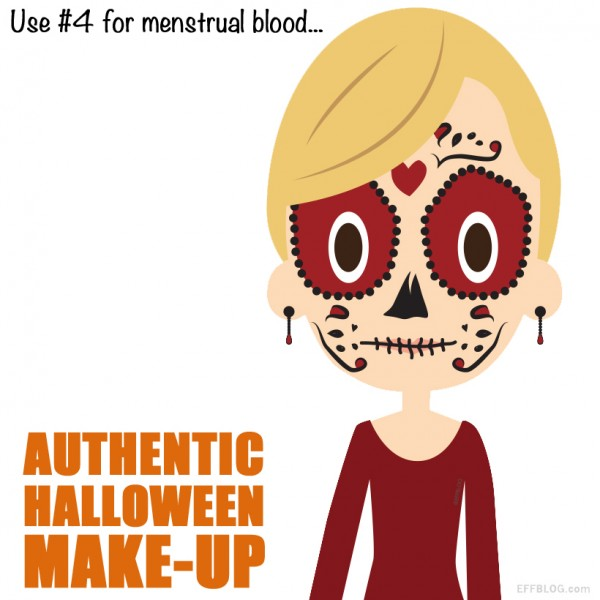 Use period blood for face paint